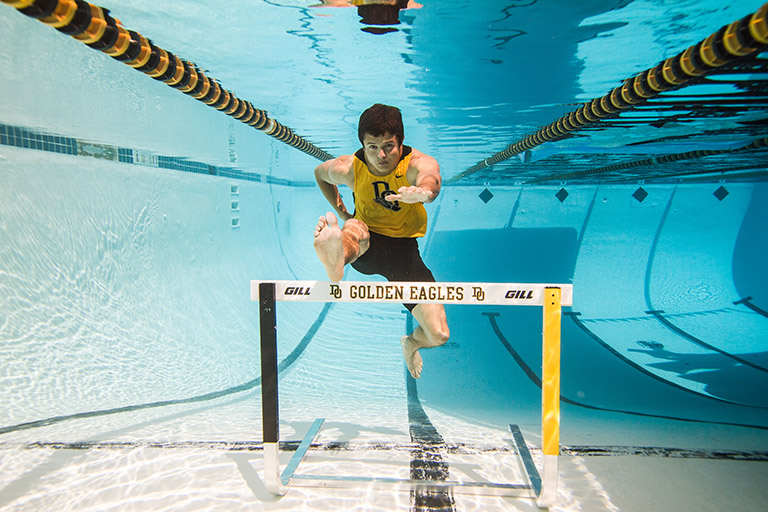 Underwater hurtles, High School Seniors