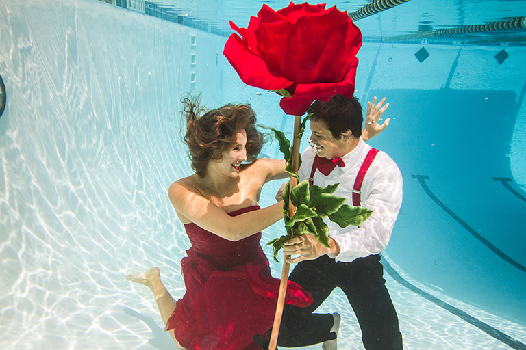 Underwater Prom Photos, Trash the Dress, High School Seniors