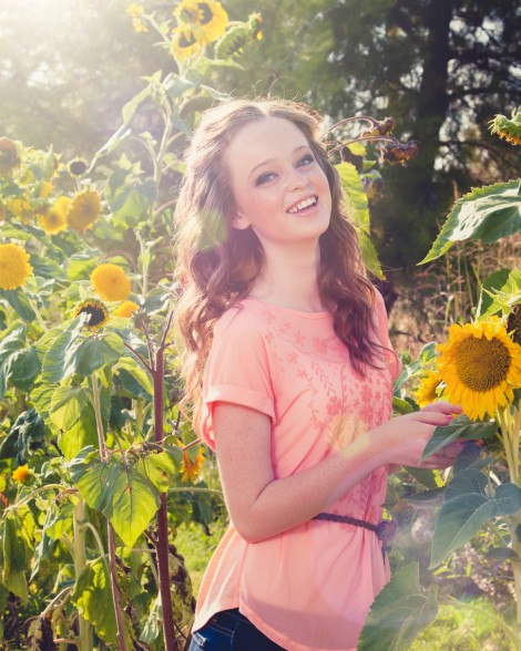 Outdoor High School Senior Photos. Sunflowers